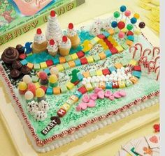 Looks like fun to make for sure.  Any rectangular cake will do just buy candy and decorate!!!