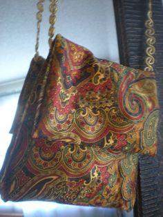 Paisley Velvet Mini Messenger bag by elainenthesun on Etsy, $5.00  #eveningbag  #paisley
