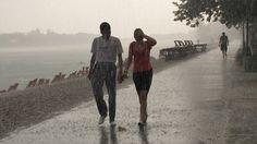 Walk in rain