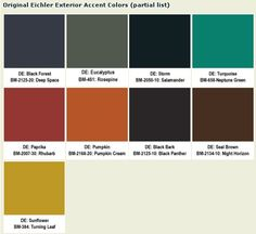 Eichler accent colors
