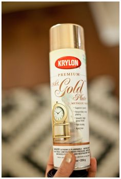 BEST gold spray paint every for DIY projects.  Dries to touch very quickly and the color is fantastic!