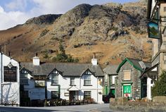 old-man-coniston-village- Cumbria, Lake District, British, England, Cabin, Mountains, Mansions, House Styles, Places