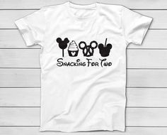 5ce78db0cfb Snacking For Two Disney Mickey Minnie T-Shirt - Mom To Be Shirts - Maternity