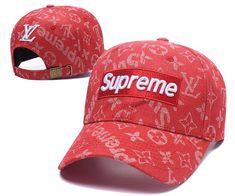 Louis Vuitton LV X Supreme Cap Fashion Red 11d09b623934