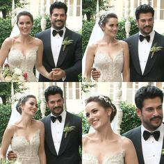 They're so beautiful together Wedding Dress Trends, Wedding Bridesmaid Dresses, Burak Ozcivit, Famous Couples, Births, Brown Girl, Turkish Actors, Wedding Pics, Cute Couples