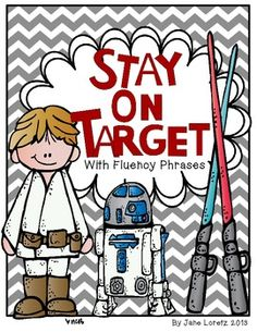 Stay on Target with Fluency Phrases-It is important that students instantly recognize sight words and repeated practice is essential. Reading Words, Reading Fluency, Teaching Reading, Reading Resources, Learning Games For Kids, Teaching Activities, Student Learning, Teaching Ideas, Star Wars Classroom