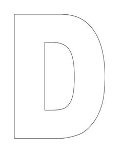 Here's a simple Alphabet Letter D template for kids.  This Letter D template for kids can be used for flashcards, coloring page and crafts!  Just print and color!