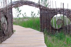 Rustic but refined woven willow fences