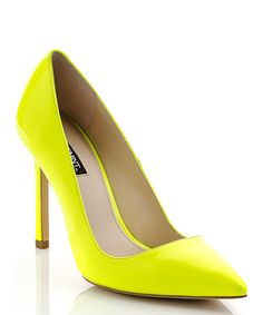 These neon pumps know how to make a sensational style statement. With their hot hue and sky-high design, they'll light up any outfit to make a lasting impression.4.25'' heelPatent leatherMan-made sole