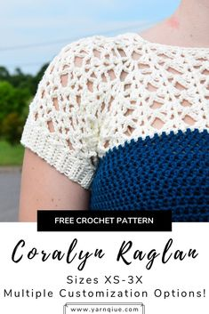 Coralyn is what crochet garment dreams are made of! She features a beautiful lace yoke (that's easier than it looks!) and hdc throughout the body for an easy, breezy finish. She's fully customizable with notes along the way to get the perfect fit as well Crochet Yoke, Mode Crochet, Crochet Shirt, Crochet Stitches, Crochet Sweaters, Crochet Edgings, Shawl Patterns, Crochet Summer Tops, Crochet Dresses