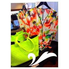 whats spring fashion without bright colors?! love this look from pileggi boutique! www.pileggiboutiquephiladelphia.com