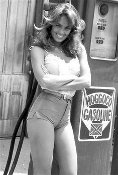 Catherine Bach as Daisy Duke in 'The Dukes of Hazzard', 1970s.