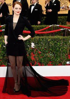 Emma Stone's SAG Awards Dress 2015 | POPSUGAR Fashion