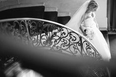 Bride at Rosecliff, Newport, RI. A seaside wedding at Rosecliff Mansion in Newport Rhode Island. | Lisa Rigby Photography