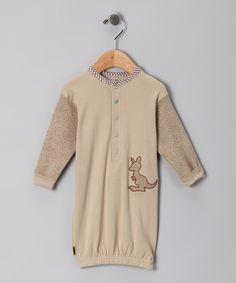 Mocha Kangaroo Organic Gown