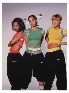 Fashion 60s, Black 90s Fashion, Hip Hop Fashion, Fashion Outfits, Rock Fashion, 90s Theme Party Outfit, 90s Outfit, Tlc Costume, Spice Girls