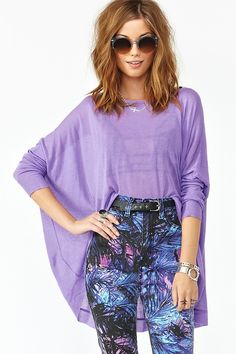 Sunrise Knit in Lilac