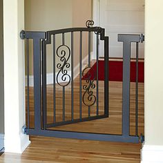 Would love this to keep the dogs out instead of the plastic baby gates.