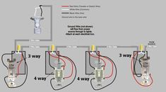 Gallery of Ge 12722 Zwave And 12723 Wiring Doityourself Com Community Forums - wiring diagram for a 4 way light switch Electrical Switch Wiring, 3 Way Switch Wiring, Electrical Code, Electrical Wiring Diagram, Electrical Outlets, Electrical Projects, Electrical Installation, Electric House, Electric Power
