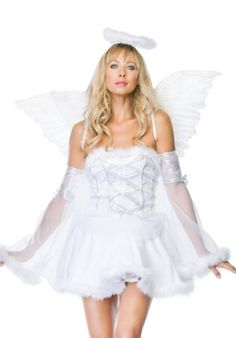 "17/""x 13/"" Small Fancy Dress Mini White Angel Wings On straps Swan Lake Good Fairy"