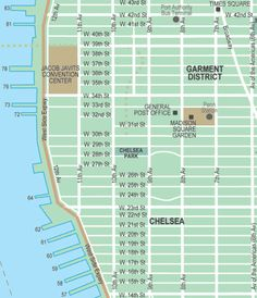 Broadway Theatre District New York City Streets Map