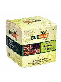 This pack comprises of sample packs of four types of teas having Green tea as the base. The pcak contains 4 pyramid teabags each of Darjeeling Green Classic, Lemong Green, Chamomile Green and Indian Summer teas. All these are whole leaf organic teas flav Online Tea Store, Vegan Store, Chocolate Stores, Natural Spice, Types Of Tea, Chamomile Tea, Organic Recipes, Free Food, Gourmet