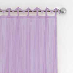 Greta Crushed Sheer Kids Window Curtain Panel - Elrene Home Fashions : Target Nursery Curtains Girl, Thing 1, Trendy Colors, Sheer Fabrics, Drapes Curtains, Curtain Rods, Lilac, Purple, Windows