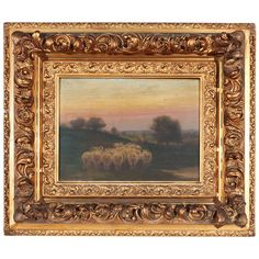 19th Century Old English Landscape Oil Painting Signed Elliot Ward   From a unique collection of antique and modern paintings at https://www.1stdibs.com/furniture/wall-decorations/paintings/
