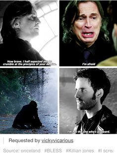 The difference between Hook and Rumple. I cheered at this part! XD Post by onceland on tumblr.