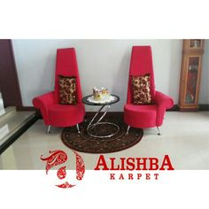 Kediaman customer (Kak Raisa di Banda Aceh) Karpet bulat ukuran 120cm*120cm Tipe Diamond L747A Merah Carpet, Rug, Rugs