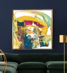 Hanging Art In The Home– 20 Leading Tips – Buy Abstract Art Right Modern Art Paintings, Modern Art Prints, Contemporary Abstract Art, Abstract Wall Art, Yellow Wall Art, Living Room Art, Hanging Art, Large Wall Art, American Art