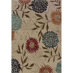Floral Cross Panel Ivory/ Multi Rug (6'7 X 9'3) | Overstock.com Shopping - The Best Deals on 5x8 - 6x9 Rugs