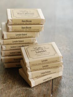 12 Handmade Soap Favors  Individually Wrapped by FrogGoesToMarket