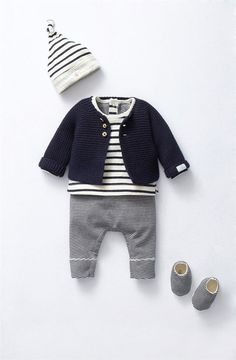 Look for newborns 14 Look für Neugeborene 14 - Cute Adorable Baby Outfits Fashion Kids, Young Fashion, Baby Boy Fashion, Fashion Wear, Fashion Clothes, Babies Fashion, Fashion Sewing, Fashion Dolls, Fashion Shoes