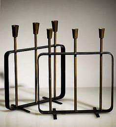 Pewter Fireplace Candelabra in Fireplace Accessories | Crate and ...