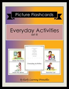 Click here to download your Everyday Activities (set III) Picture Flashcards: https://www.teacherspayteachers.com/Product/Everyday-Activities-set-III-2546719: $2.5