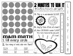 Lady Create-a-lot: Valentine's MINUTE TO WIN IT game printable