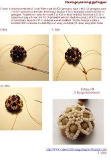 Cseresznyevirág gyöngyei: Sokszínvirág medálom mintája