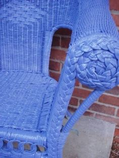 How To Paint A Wicker Chair With Chalk Paint Diy Ideas
