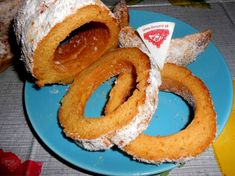 Bezlepkový trdelník Onion Rings, Gluten Free, Ethnic Recipes, Food, Glutenfree, Meal, Eten, Meals