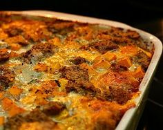 Savory Bread Pudding with Butternut Squash, Chard & Cheddar - great vegetarian entree too