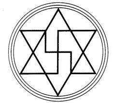 GRÁFICO ANTI-MAGIA: Gráfico utilizado para proteção psíquica e para a quebra de estados mágicos. Sua forma, baseada no hexagrama, pode ser utilizada com bastante segurança mesmo por iniciantes.