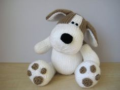 Free Knitting Pattern Toy Puppy : Bangers the Sausage Dog toy knitting patterns by fluffandfuzz on Etsy AMIGU...