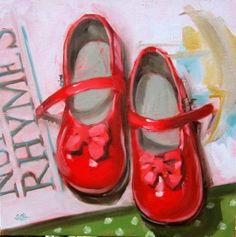 """Sunday shoes"" original fine art by Sandy Haynes"