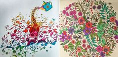 This Illustrator Creates Coloring Books For Adults, And They Have Already Sold MILLIONS Of Copies