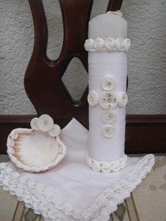 Set de vela para bautizo