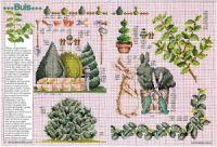 """Gallery.ru / Chispitas - Альбом """"Encyclopedie du point de croix 1998"""" Le Point, Cross Stitch, Teapot, Flowers, Leaves, Punto Croce, Crossstitch"""