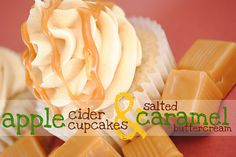 apple cider cupcakes and salted caramel buttercream
