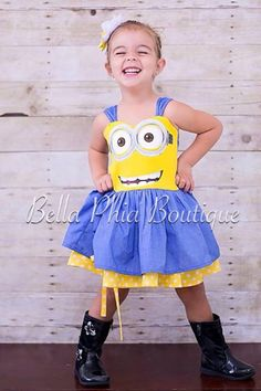 Minions na concepção de todos Minion Birthday, Minion Party, Baby Girl Birthday, My Baby Girl, 2nd Birthday, Birthday Ideas, Minion Dress, Minions, Girl Minion