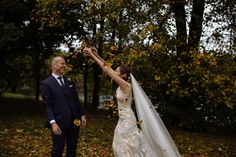Autumnal wedding at The Mansion, Roundhay Leeds. Wedding portrait.